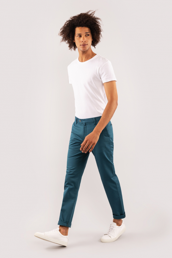 Peacock Blue Chinos
