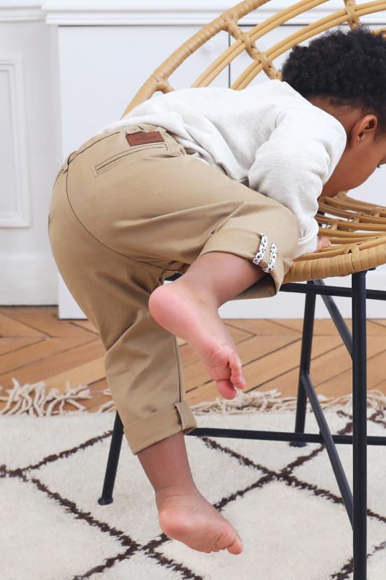 Chino Enfant Beige
